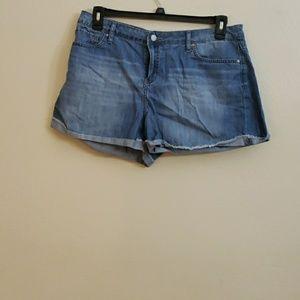 Calvin Klein light denim wash shorts